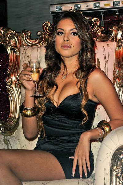 Karima  Ruby  El Mahroug, la bailarina marroquí que afirma haber estado en las fiestas de Silvio Berlusconi.
