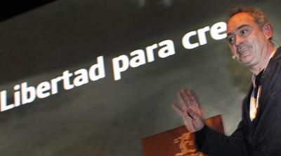 El  chef    Ferran Adrià, en la jornada de apertura de la feria gastronómica Madrid Fusión.
