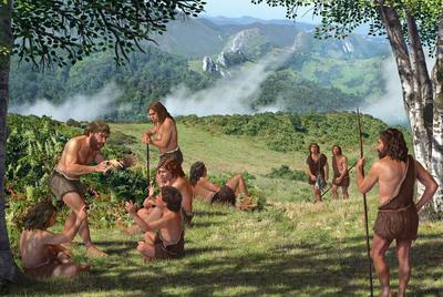 No tan lejanos. Los restos encontrados han demostrado que los neandertales hablaban y compartían experiencias alrededor del fuego.