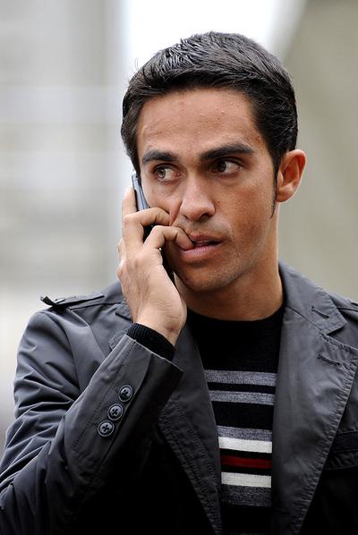 Alberto Contador, en Oviedo en octubre pasado.