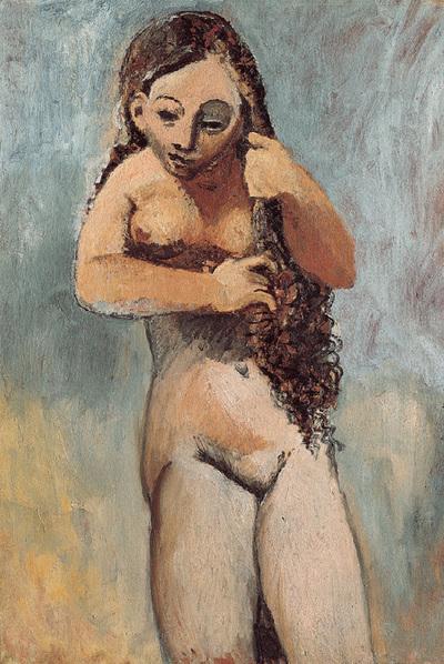 Mujer desnuda peinándose  (1906).
