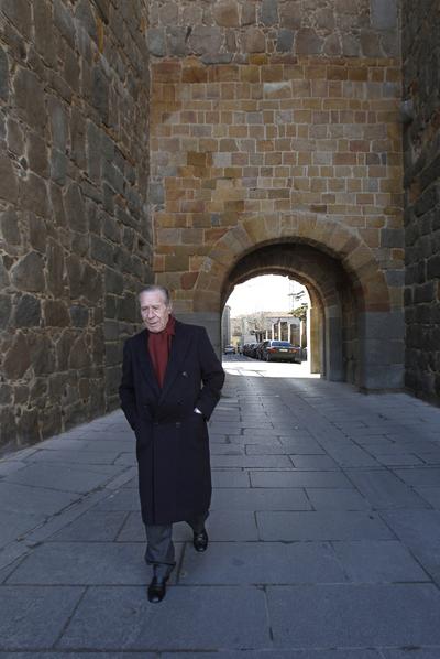 Francisco Laína, fotografiado en Ávila, el 16 de febrero de 2011.