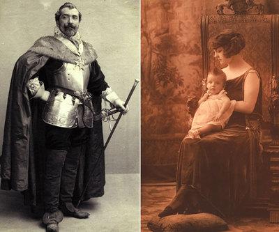 Emilio Fernández Tiffon, hijo de Antonio y Anaïs, disfrazado de Cardenal Richelieu (1891) y 'Retrato de mujer' (1910-1920) realizado en el mismo sillón que se puede ver en la exposición.