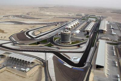 Vista aérea del circuito de Sakhir, en Bahréin.