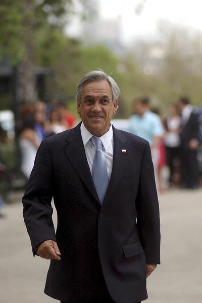 El presidente electo de Chile, Sebastián Piñera, en Santiago, el 18 de enero de 2010.