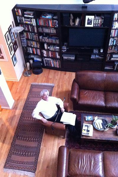 Peter Meyer, presidente de Overlook Press,rnen su domicilio de Nueva York en enero rnde 2011.