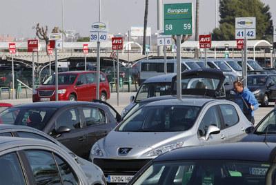Parking del aeropuerto de El Prat de Barcelona.