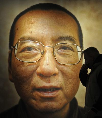 Imagen de Liu Xiaobo, Premio Nobel de la Paz, expuesta en Oslo, en diciembre de 2010.