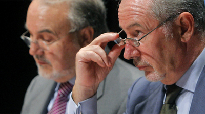 Pedro Solbes (izquierda) y Rodrigo Rato fueron los ministros de Economía durante los años del  boom  inmobiliario.