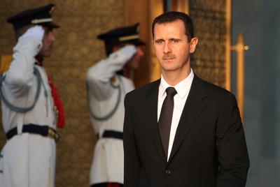 El presidente El Asad en un acto oficial en Damasco en 2008.
