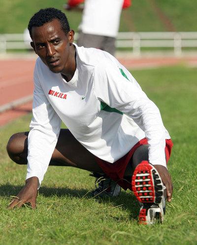 Alemayehu Bezabeh, en una sesión preparatoria.