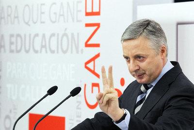 Blanco, durante la presentación de la campaña del PSOE.