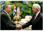 Carter reclama en La Habana el fin del embargo a Cuba