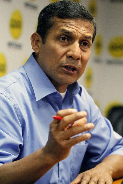 Ollanta Humala, dos días después de las elecciones.