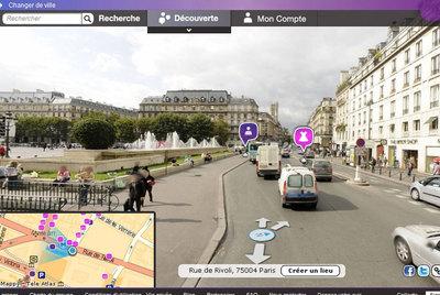 Imagen de París obtenida por los coches de UrbanDive.