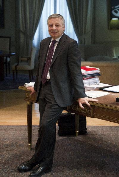 José Blanco, el miércoles en su despacho de Fomento.