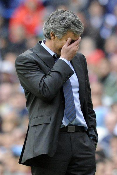 Mourinho, en el partido de ayer.