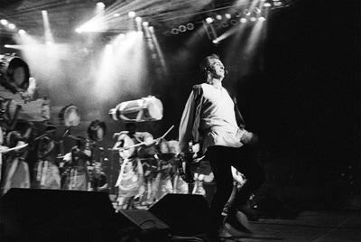Peter Gabriel, durante una actuación en el festival WOMAD en 1993, en Saratoga Springs, Nueva York.
