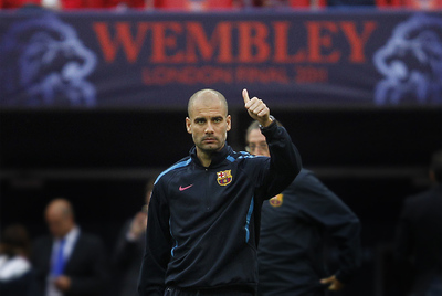Guardiola, en Wembley.