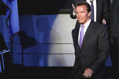 Arnold Schwarzenegger, durante la conmemoración del aniversario de  la independencia de Israel en el consulado de Los Ángeles.