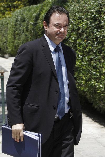 El ministro de Finanzas, Yorgos Papaconstantinu.