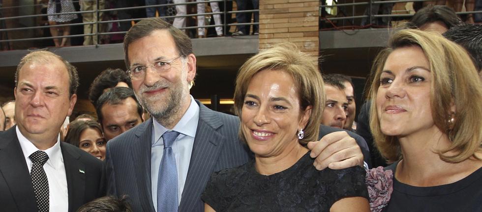 Monago, Rajoy, la esposa de Monago y Cospedal