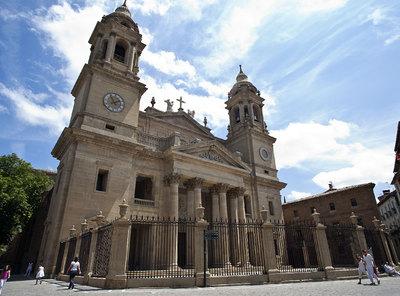 La reparación de la Catedral de Navarra se pagó con dinero público antes de que la Iglesia se la apropiara.