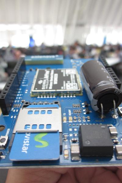 El módem de Telefónica I+D y Arduino.