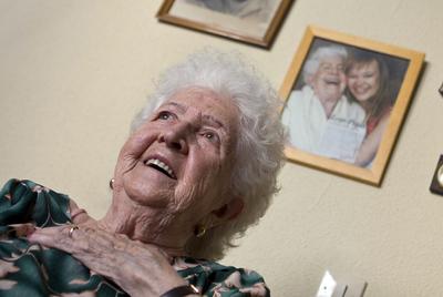 Felipa Plaza González, de 93 años, tenía 19 aquel 18 de julio.