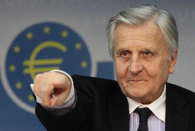 Jean-Claude Trichet da la palabra a un periodista en la conferencia de prensa celebrada ayer en el BCE.