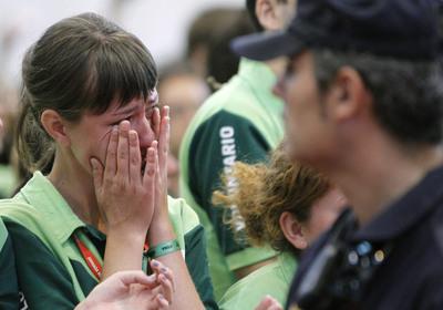 FOTOGALERIA: Lloro en la despedida