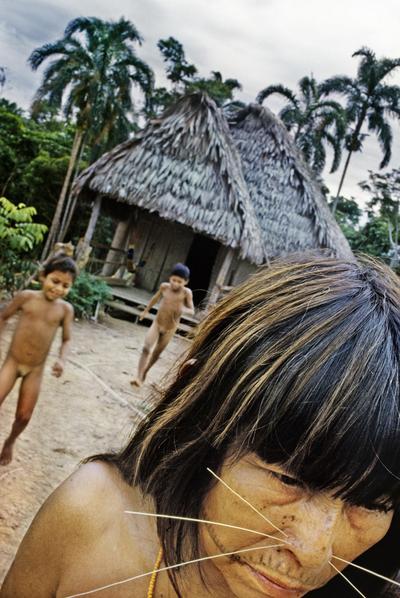 Poblado indígena del Amazonas.