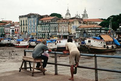 El puerto de Belém, ciudad brasileña de millón y medio de habitantes y principal punto de entrada al Amazonas.