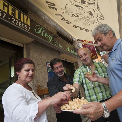Una ración de rabas en el bar Gelín de Santander