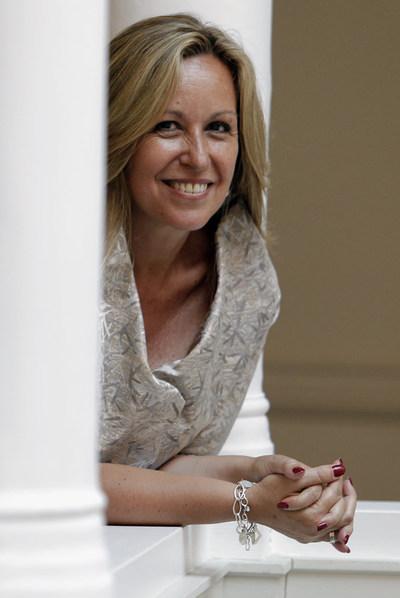 Trinidad Jiménez, en el palacio de Viana, tras la entrevista.