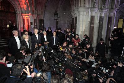 Julian Assange, tras quedar en libertad condicional el pasado diciembre en Londres.
