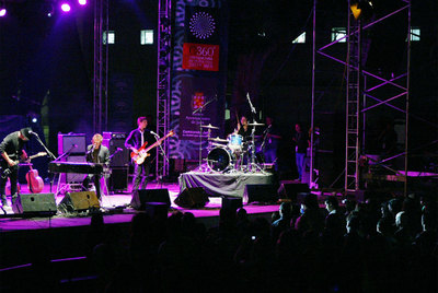 Uno de los grupos concursantes en la edición de 2008 del Lagarto Rock.