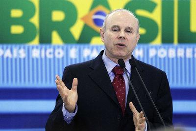 El ministro de Economía de Brasil, Guido Mantega, durante una conferencia en agosto.