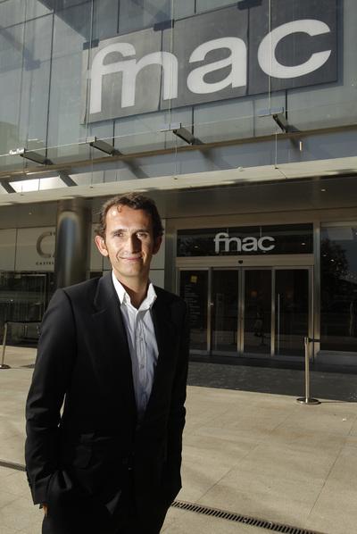 Alexandre Bompard, frente a la nueva tienda Fnac en Madrid.