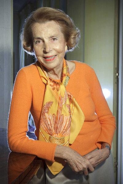 Liliane Bettencourt, la semana pasada.