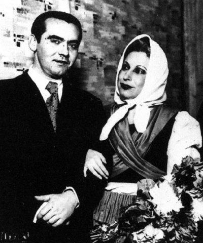 Lorca y Margarita Xirgu, en los años treinta.
