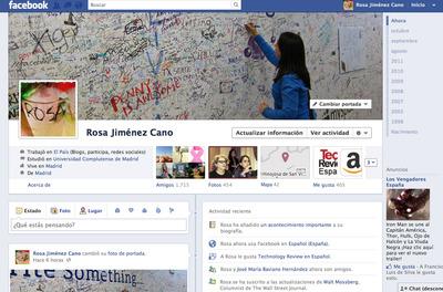 El muro, hasta ahora centro neurálgico de las acciones, se desdobla en Facebook. Ahora manda la portada, que es como se llamará en español a la parte superior del perfil coronada con una foto a dos columnas, en posición horizontal