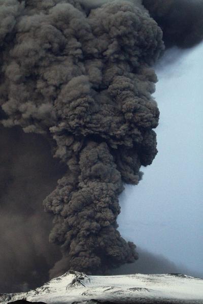 El volcán islandés Eyjafjalla, en mayo de 2010.