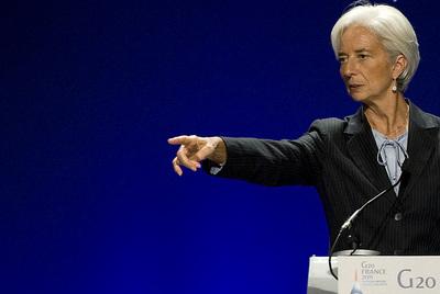 Christine Lagarde durante la última reunión del G-20, el pasado noviembre en Cannes (Francia).