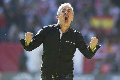 Manuel Preciado canta un gol del Sporting.