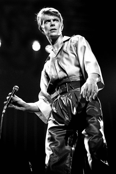 David Bowie, durante una actuación en Newcastle City Hall en 1978.