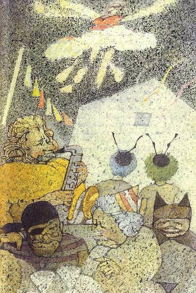 Ilustración de Saavedra para  Arriba el cielo, abajo el suelo , de Andrés Barba.