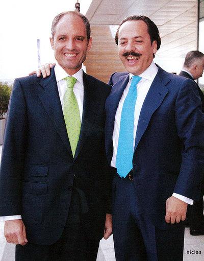 Francisco Camps con Álvaro Pérez,  El bigotes .