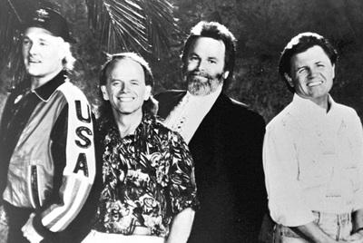 Desde la izquierda, Mike Love, Al jardine, Carl Wilson y Brian Wilson.