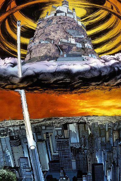 Viñeta del cómic  El ladrón del rayo,  adaptado por Robert Venditti e ilustrado por Attila Futaki y José Villarrubia.